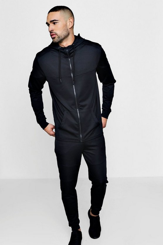 Muscle Fit Hooded Tracksuit