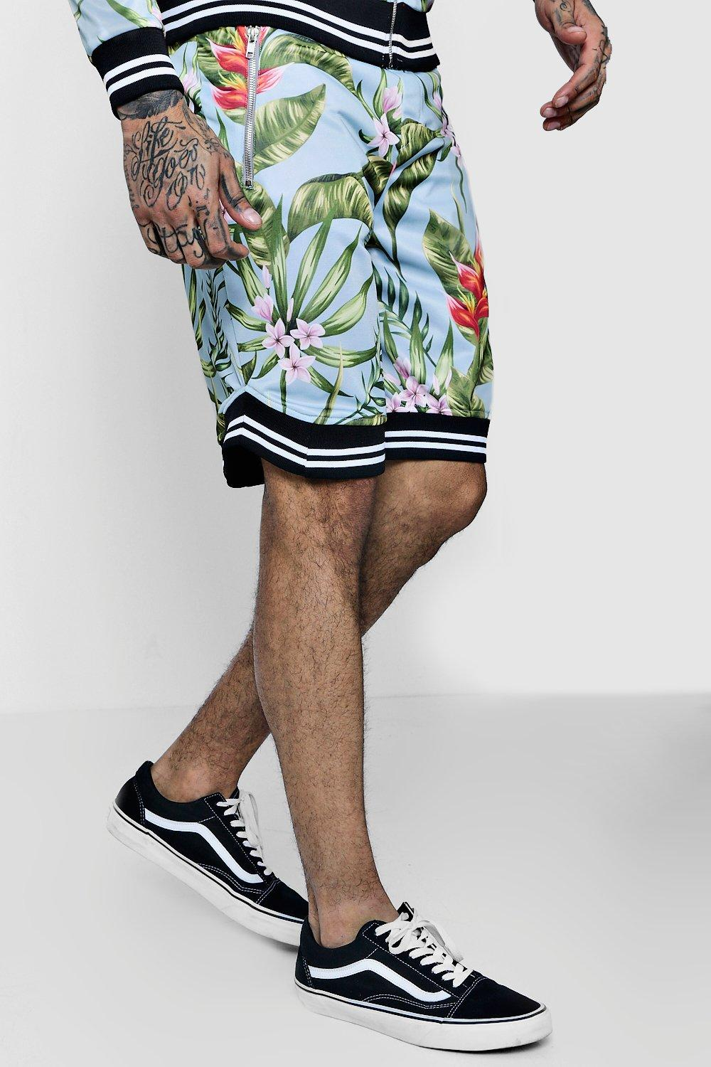 Floral Basketball Sports Shorts Co-ord