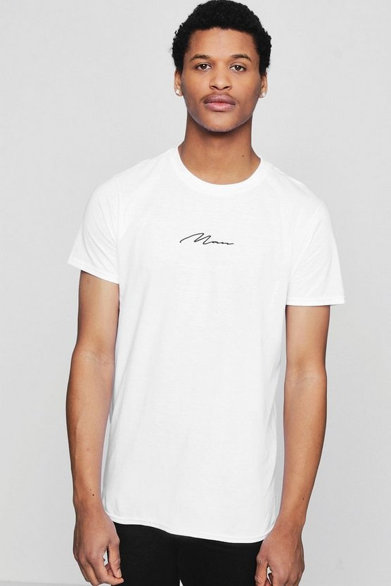 MAN Signature Print T-Shirt
