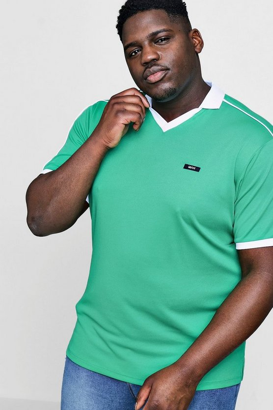 Big And Tall Retro Football MAN Polo