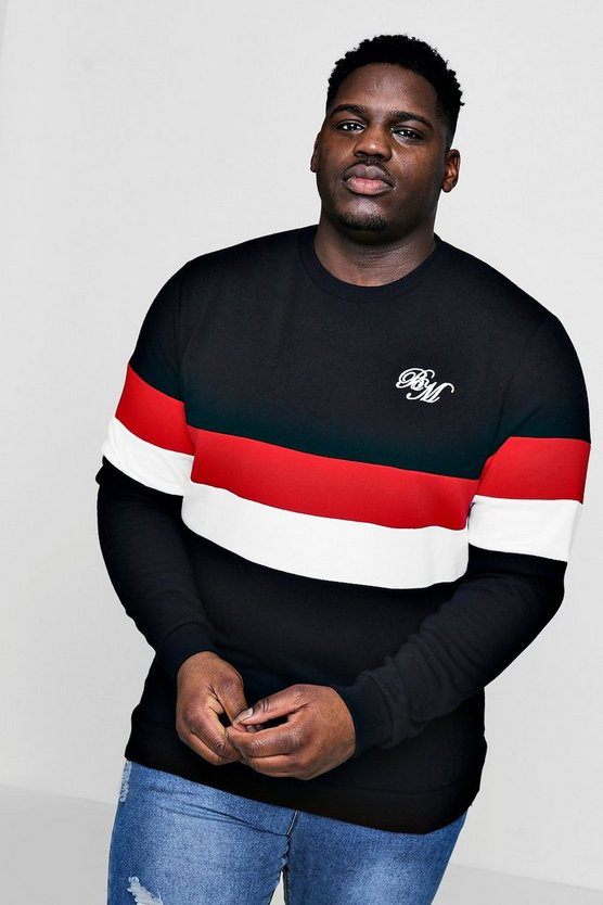 Big And Tall MAN Colour Block Sweater