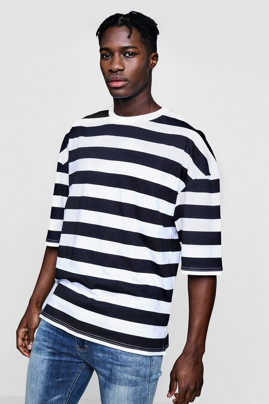 Boxy Fit Stripe T-Shirt