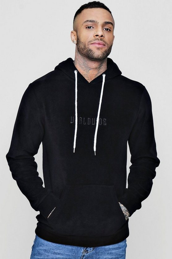 Worldwide Embroidered Fleece Hoodie