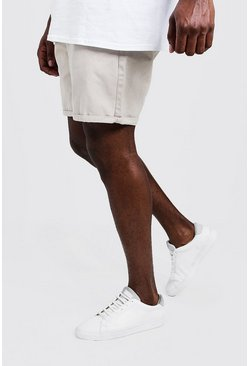 Mens Stone Big And Tall Slim Fit Chino Shorts