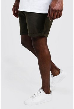 Mens Khaki Big And Tall Slim Fit Chino Shorts