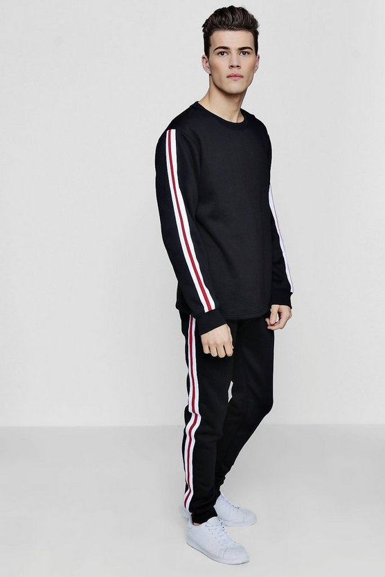 Skinny Stripe Sweater Tracksuit
