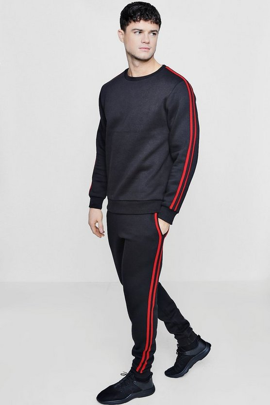 Sweater Tracksuit With Side Stripes