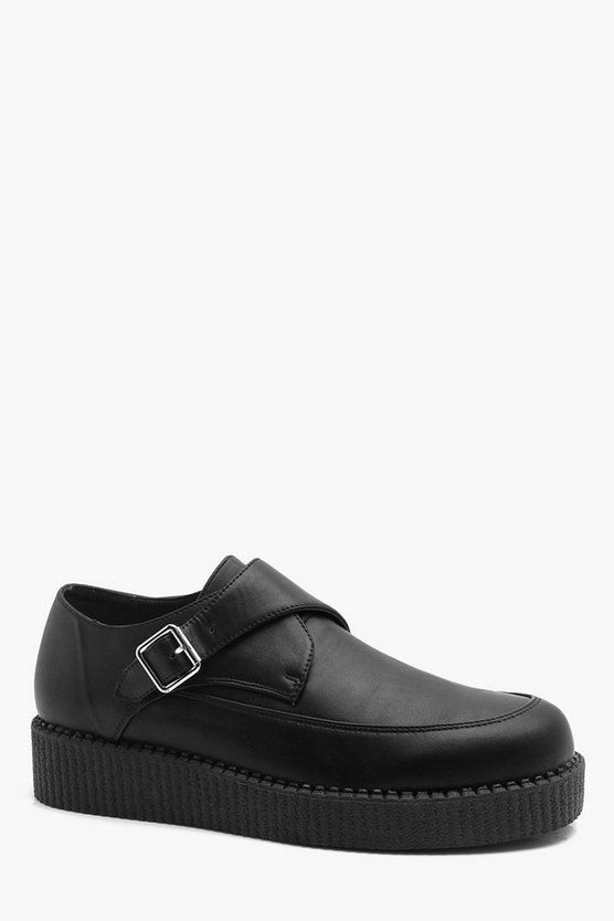 PU Monk Strap Creeper