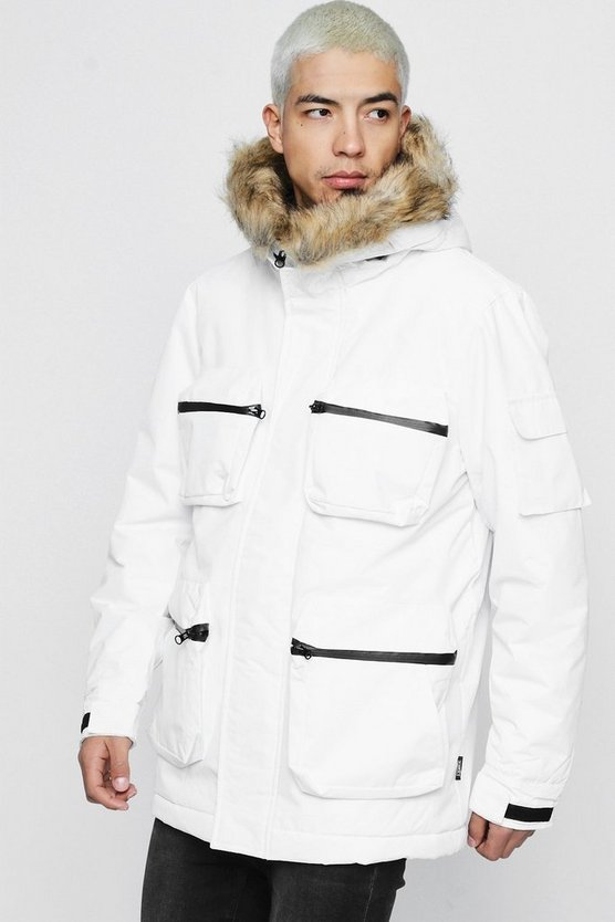 Hooded Four Pocket Parka