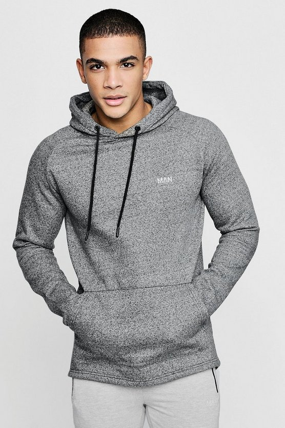 Mens Black Active Over The Head Gym Hoodie