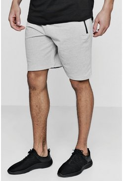 Mens Grey Active Gym Shorts