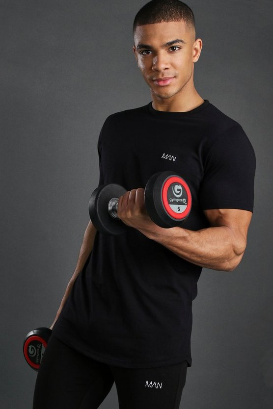Mens Black Short Sleeve Active Gym T-Shirt