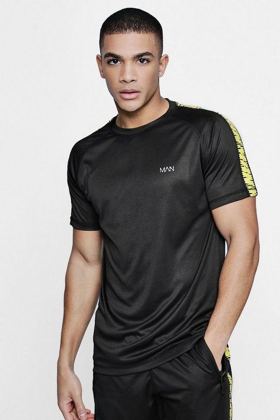 Active Gym T-Shirt With Printed Side Panel