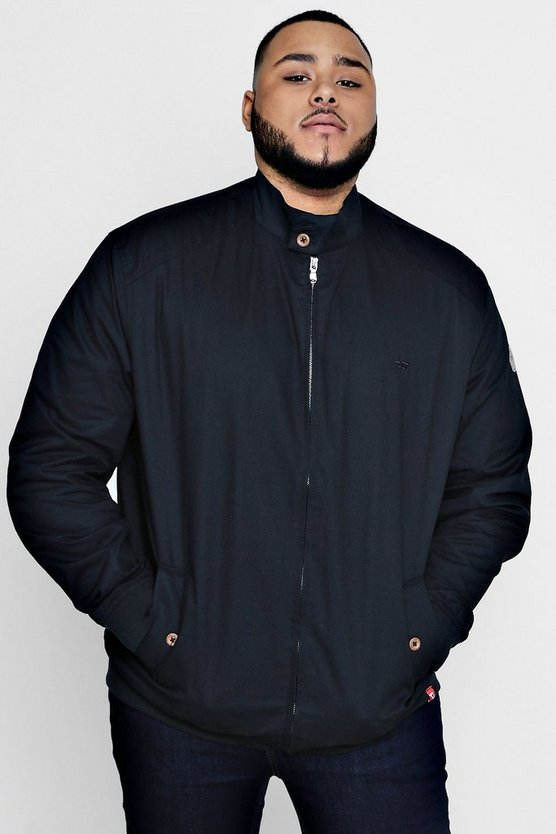 Big And Tall Harrington Jacket With Lining