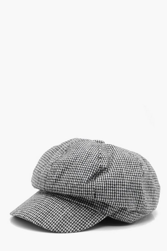 Houndstooth Baker Boy Hat