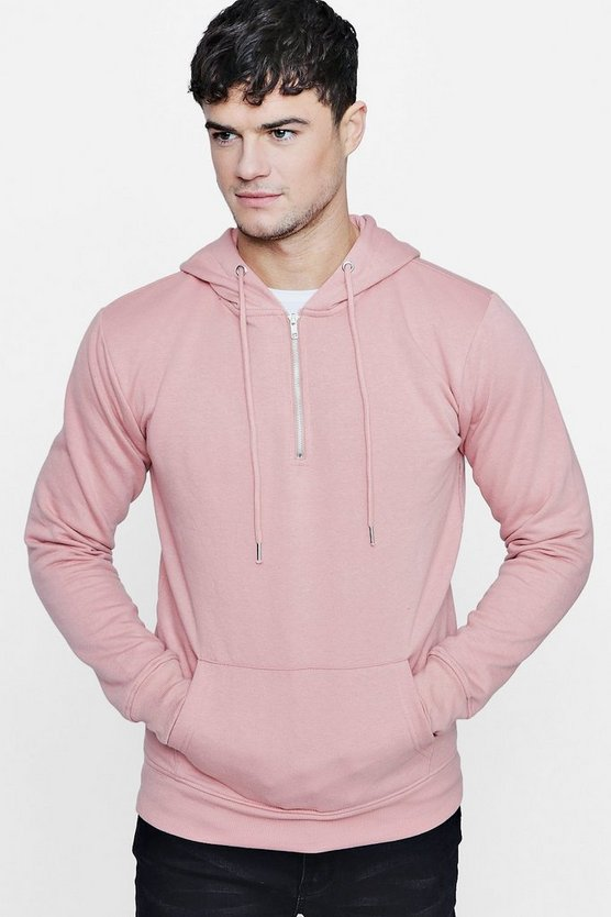 Half Zip Over The Head Hoodie