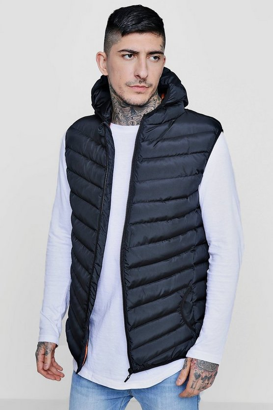 Zip Through Hooded Gilet