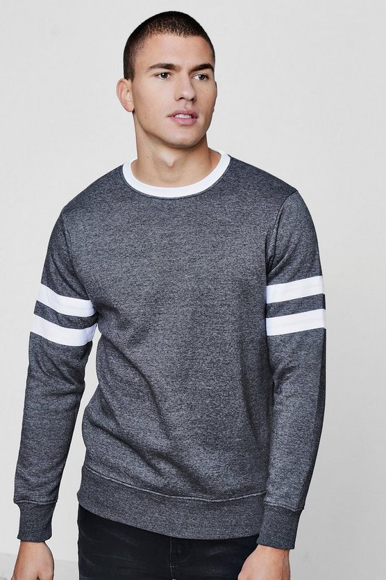 Contrast Long Sleeve Sweatshirt