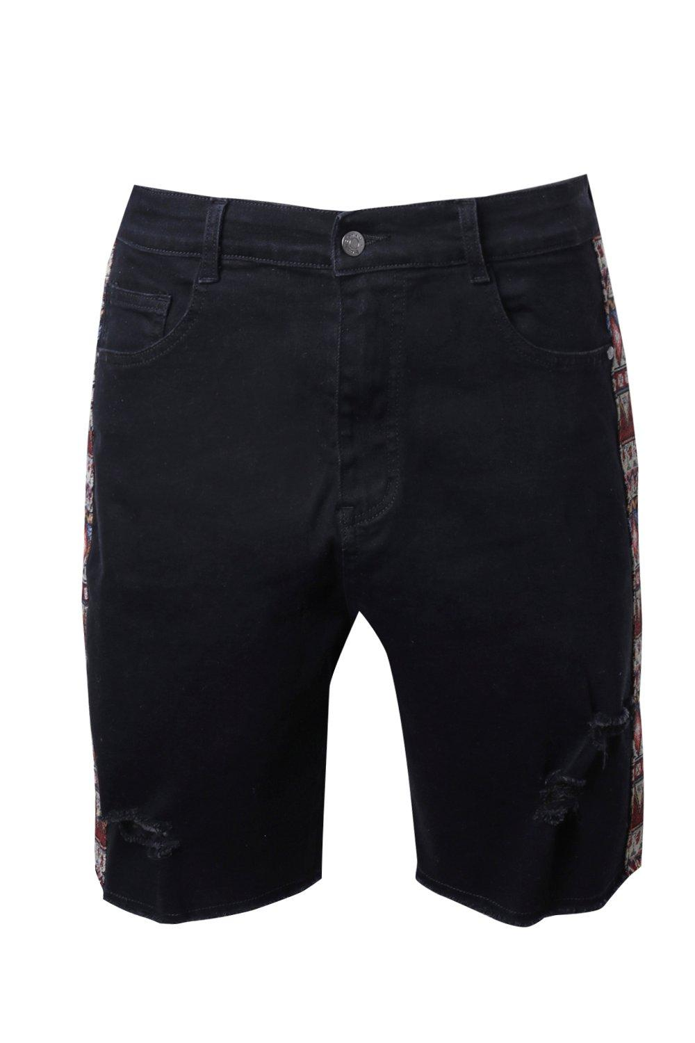 Fit Shorts Distressed Skinny black Denim dx7dw6