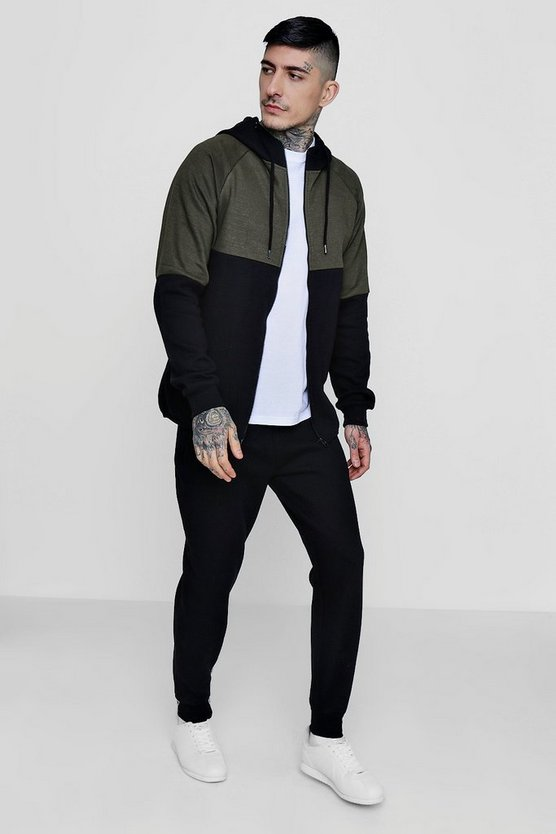 Skinny Fit Two Tone Tracksuit