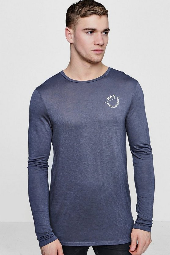 Long Sleeve MAN Muscle Fit T-Shirt