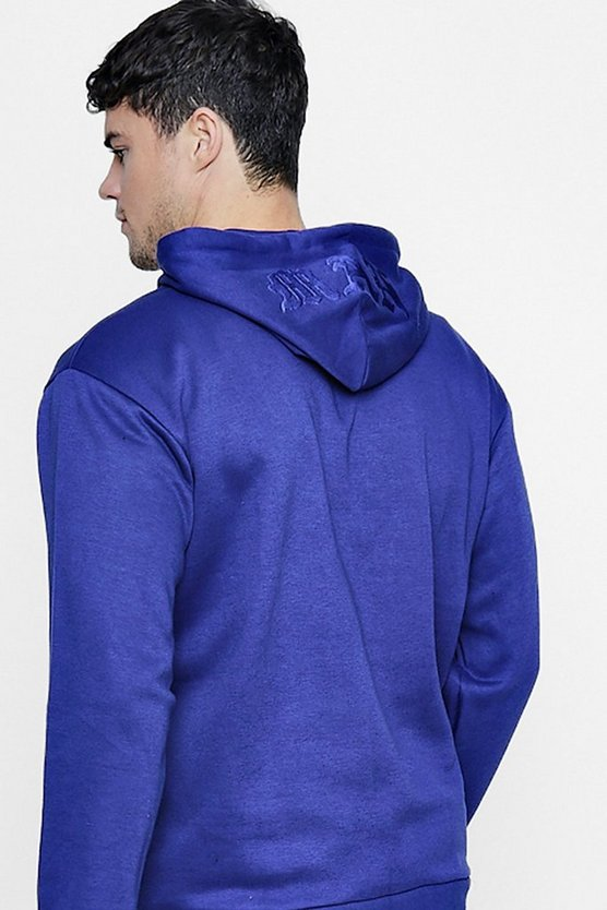 MAN Embroidered Hoodie In Fleece