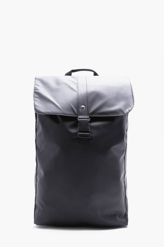 Rubberised Rucksack with Buckle Detail