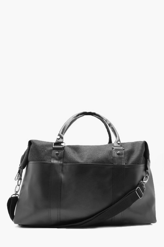 Faux Leather And Felt Holdall