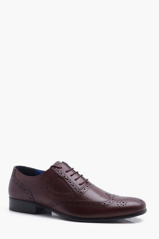 Real Leather Brogue Smart Shoe