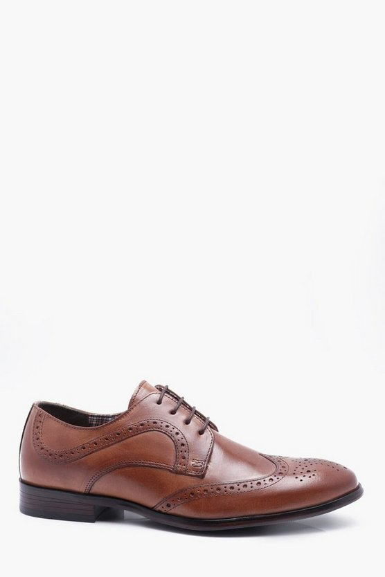 Lace Up Leather Brogue