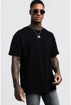 Mens Black Oversized Crew Neck T-Shirt