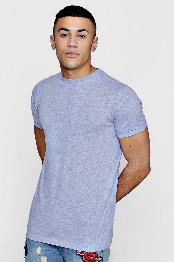 Longline Roll Sleeve T-Shirt
