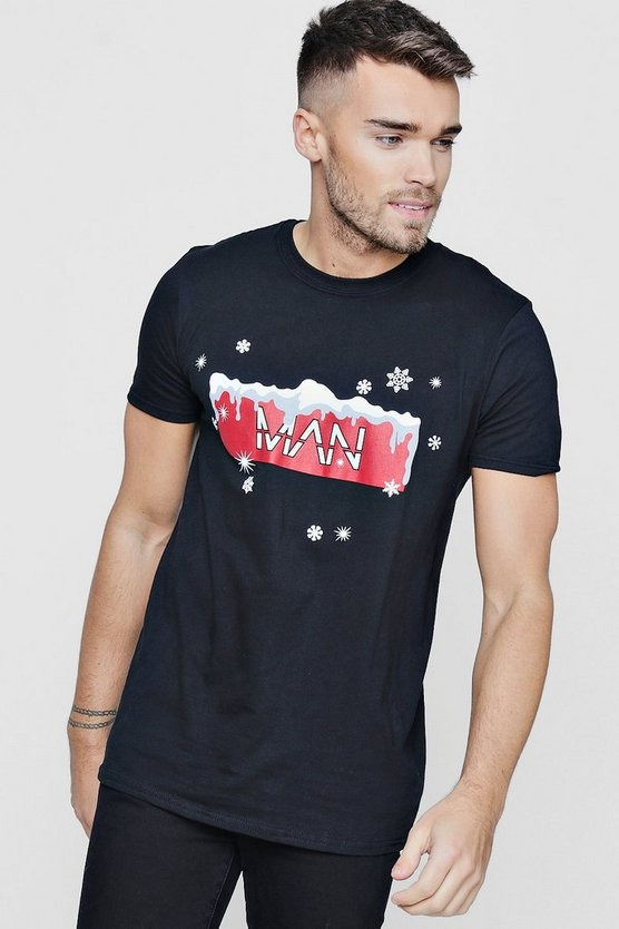 Christmas MAN Snowflake T-Shirt