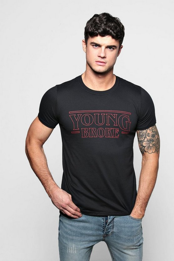 Young Broke Print T-Shirt