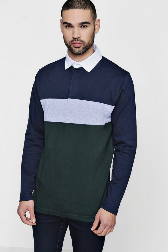 Colour Block Jersey Rugby Shirt