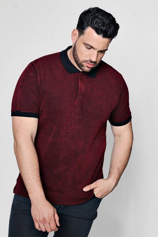 Big And Tall Short Sleeve Textured Polo Shirt