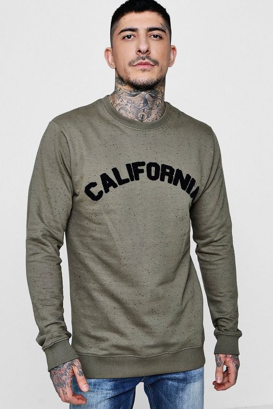 Boucle Badge Crew Neck Sweater