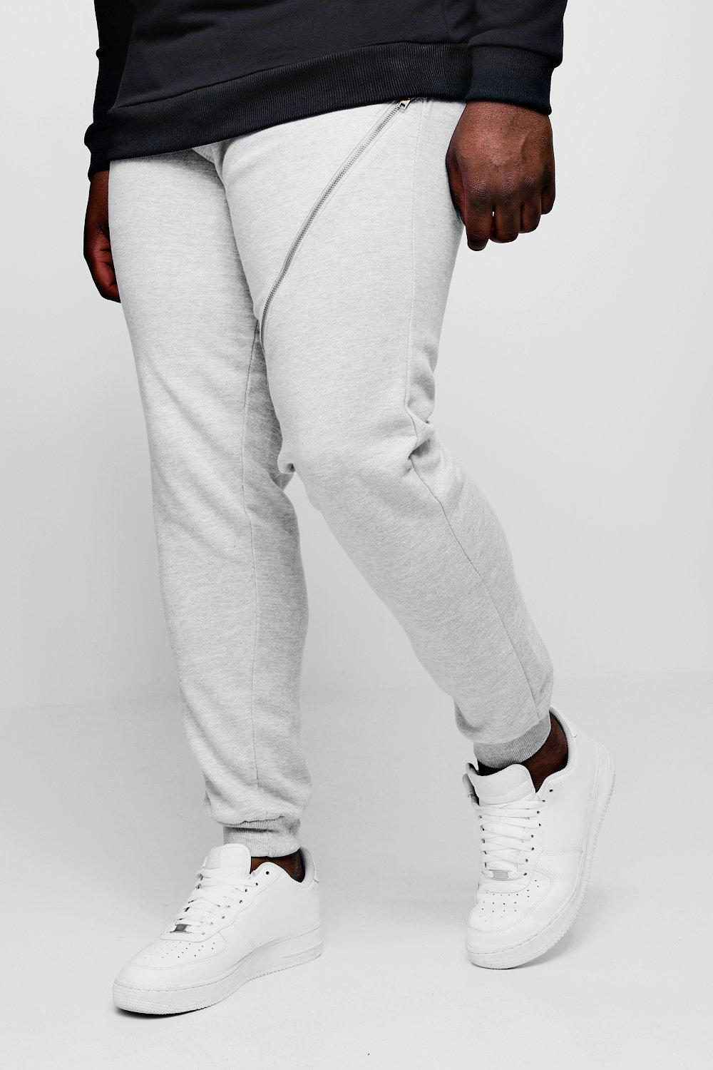 Big And Tall Track Sweater With Zip
