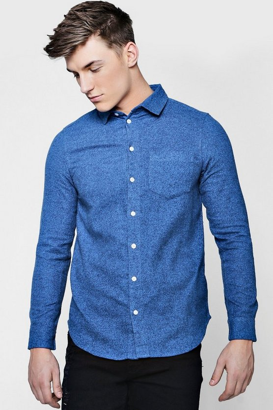 Long Sleeve Melange Shirt