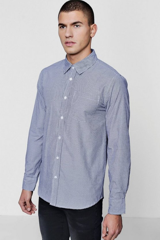 Long Sleeve Check Smart Shirt