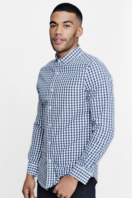 Smart Gingham Slim Fit Shirt