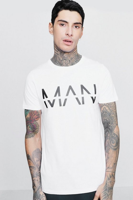 Man Large Dash Print T-Shirt