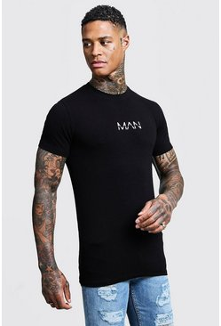 T-shirt Muscle Fit MAN original, Noir
