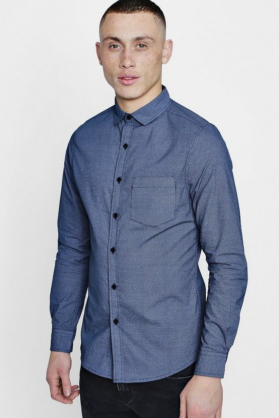 Smart All Over Print Slim Fit Shirt