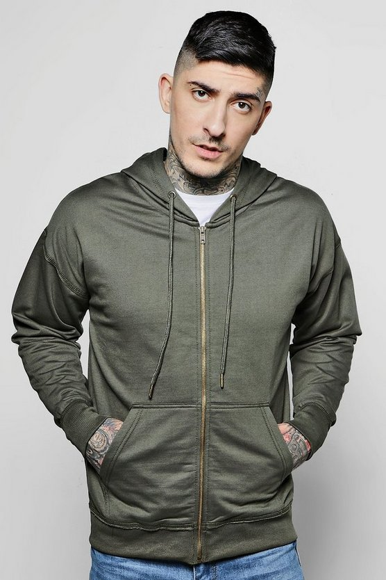 Oversized Zip Through Hoodie