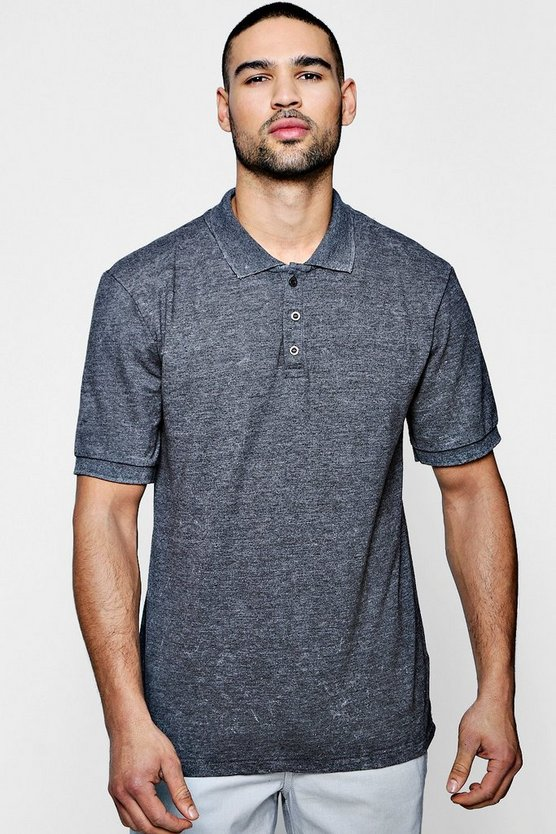 Pique Polo With Enzyme Wash