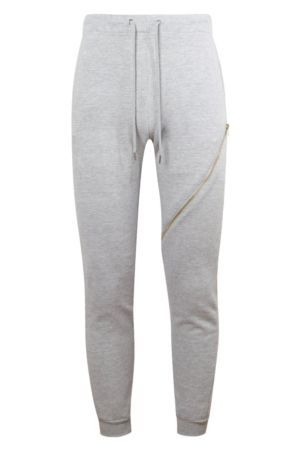 grey Joggers marl Gold With Zips Skinny wBqSdIx8x