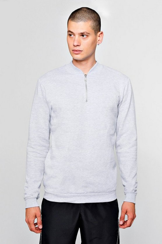 Track Sweater With Zip