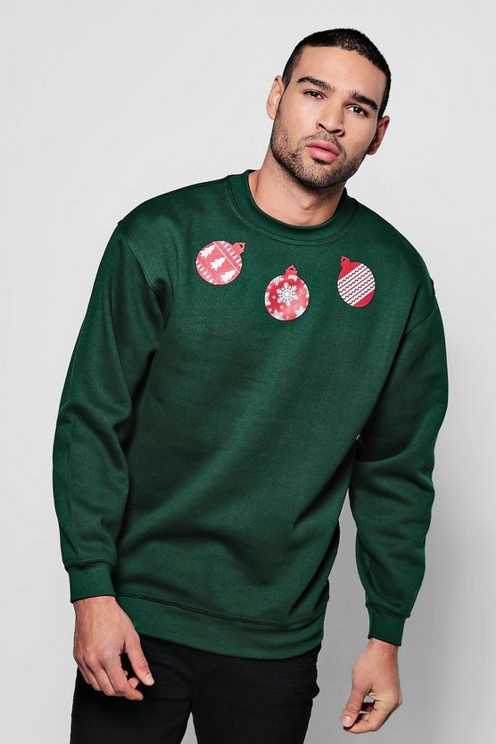 Christmas Bauble Print Jumper