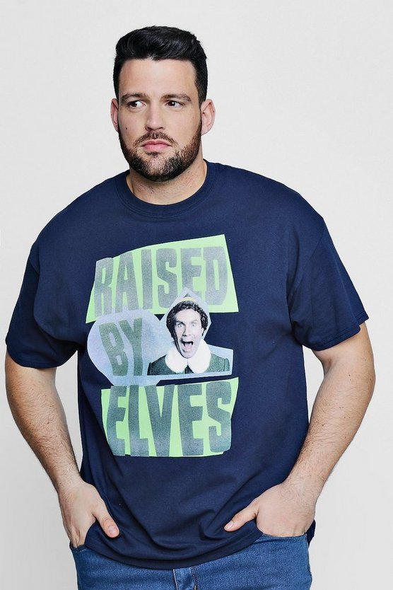 Mens Navy Big And Tall Raised By Elves License T-Shirt